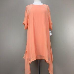 NWT BCBG Bright Nectar SS Silk Sheath Dress Sz L